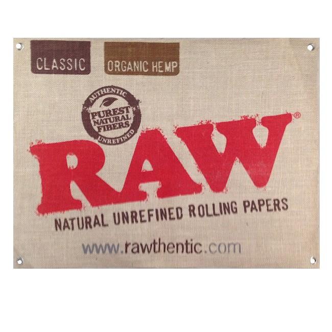 Полотно с логотипом Raw