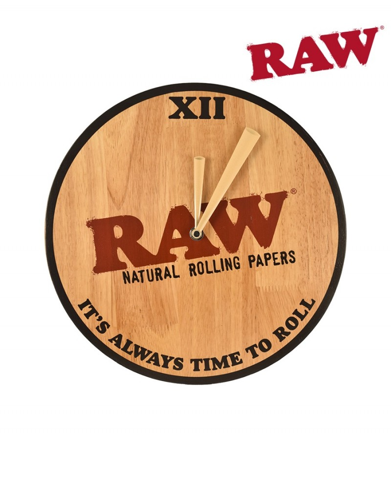 Деревянные часы RAW