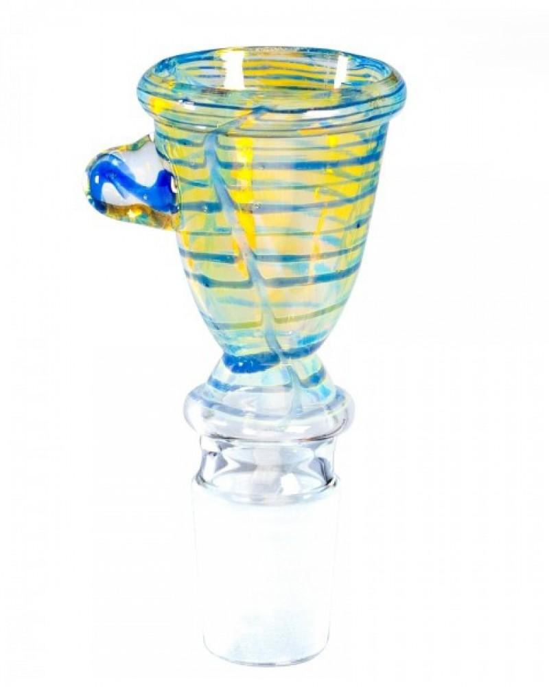 Стеклянная чаша для бонга с ручкой 18.8