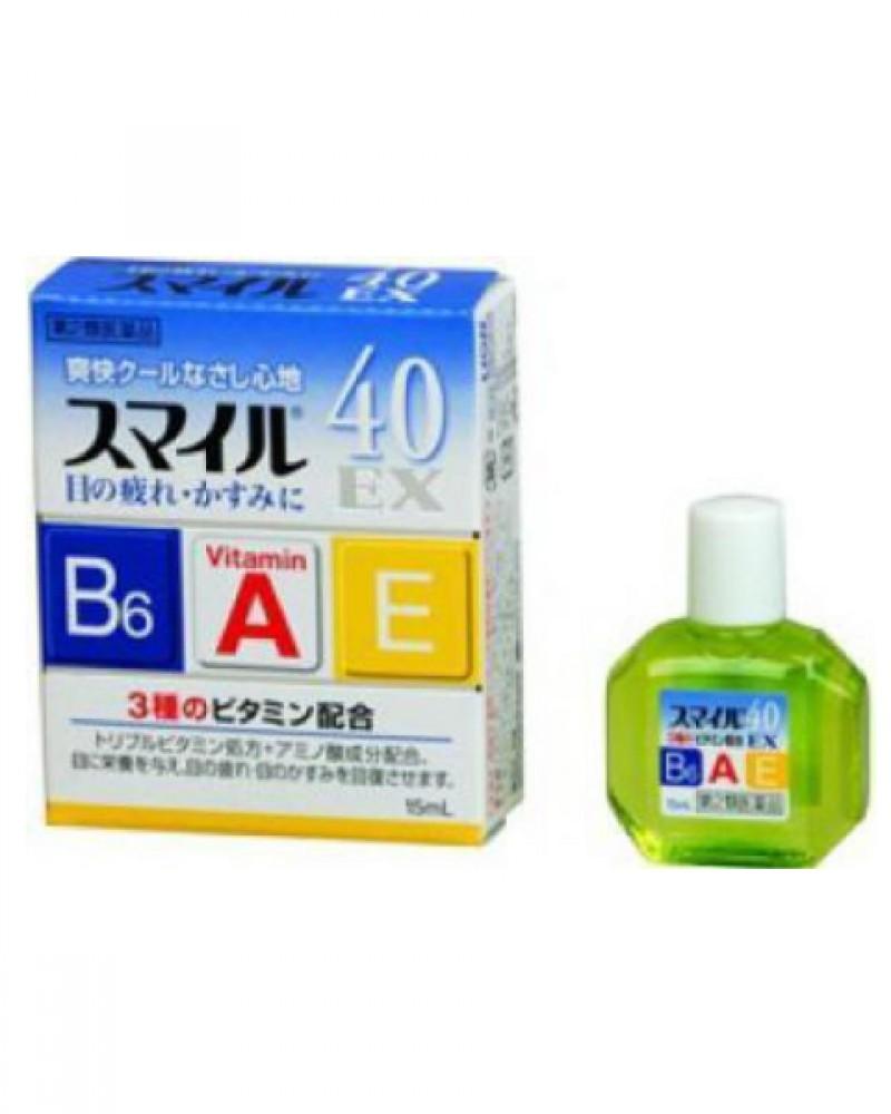 Японские Капли для глаз Lion Smile 40 EX